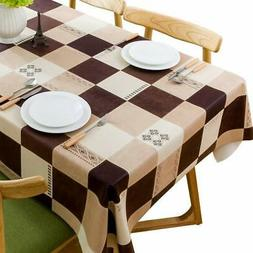 JZY Heavy Duty Vinyl Tablecloth for Kitchen Dining Table Wip