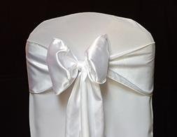 KING KDS 25 Satin 6 X 108 inch Chair Cover Bow Sashes For Ba