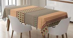 Kente Pattern Tablecloth Ambesonne 3 Sizes Rectangular Table