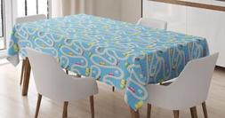 Kids Activity Tablecloth Ambesonne 3 Sizes Rectangular Table