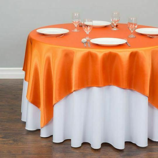Square Satin Wedding Party Dinner