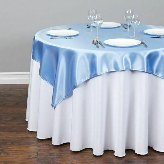 1/10 pack 60x60 Square Satin Seamless Wedding Party