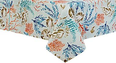 1 Coastal Settings Table Cloth 60 By 84 Oblong Rectangle Umb