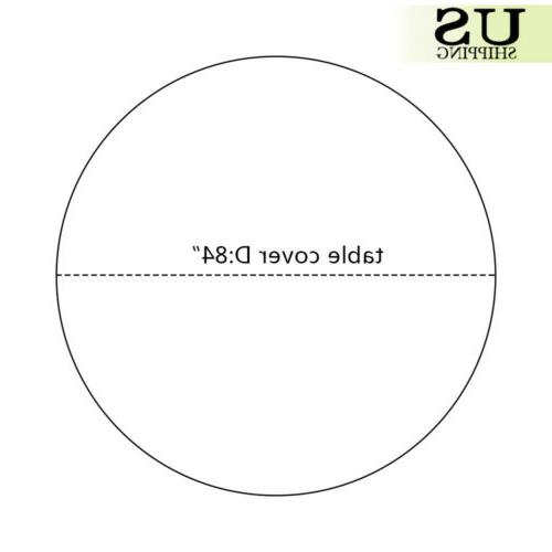 """10/20 Round Plastic Table Cover Covers 84"""""""