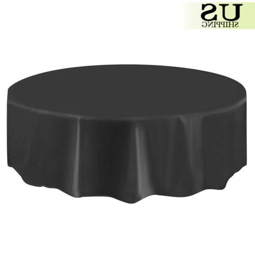 10/20 Round Plastic Table Cloth Covers Party Favors 84""