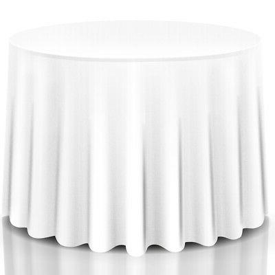 10pcs 90 round table cloth polyester tablecloth