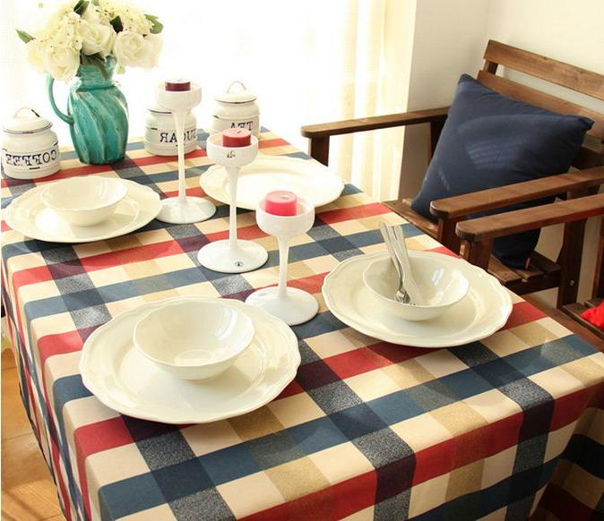 100% <font><b>Cloth</b></font> English Style Multifunctional Tablecloths Coffee <font><b>Table</b></font> GQ20