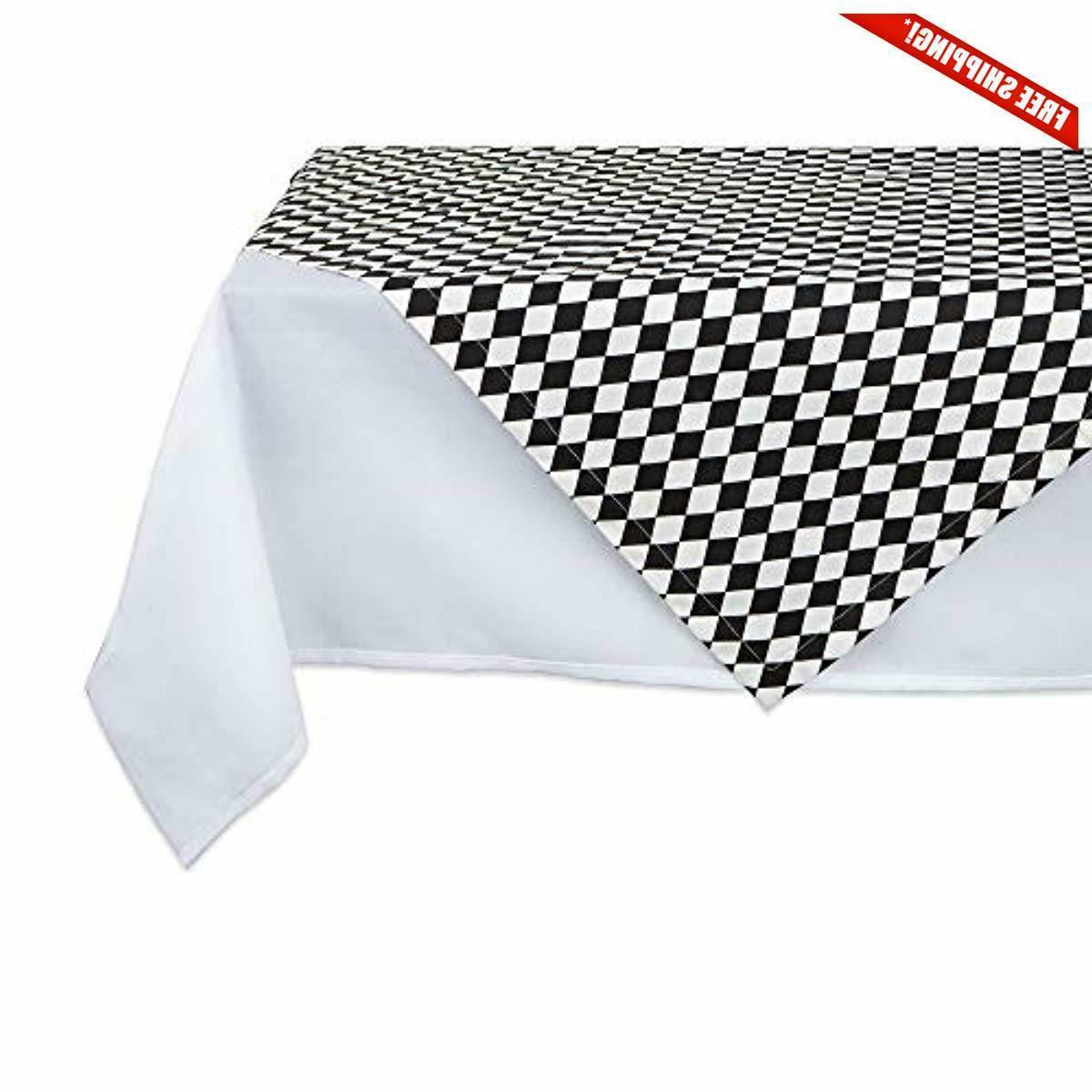 100 percent cotton harlequin printed table topper