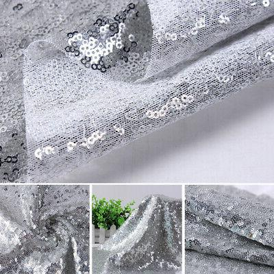 Sequin Tablecloth Glitter Party Banquet polyester Cover Decor