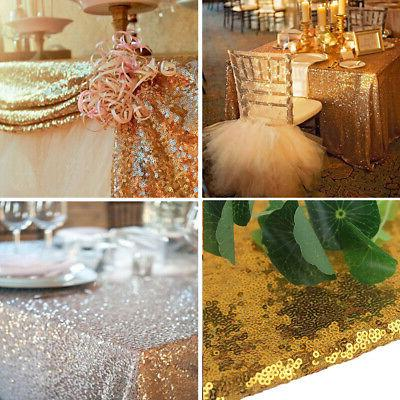 US Rectangle Sequin Tablecloth Sparkly Table Cover