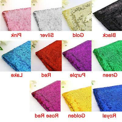 US Rectangle Sequin Tablecloth Sparkly Cover Wedding Party