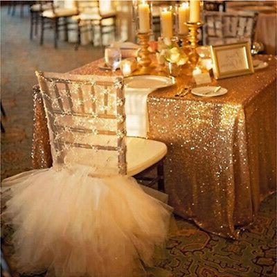 US Rectangle Tablecloth Sparkly Cloth Cover
