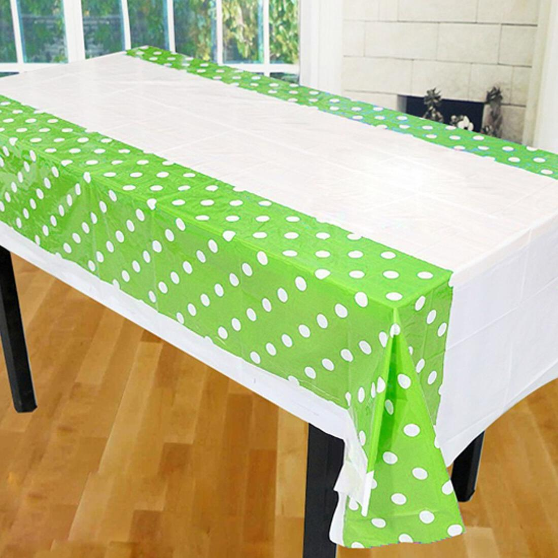 108 180CM Dot <font><b>Cloth</b></font> <font><b>Table</b></font> <font><b>Plastic</b></font> Birthday Tablecloth