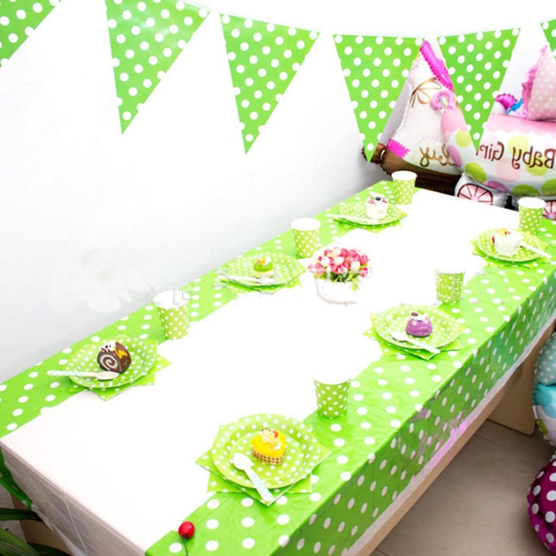 108 * Dot <font><b>Cloth</b></font> <font><b>Table</b></font> <font><b>Plastic</b></font> Birthday Party Decoration Tablecloth