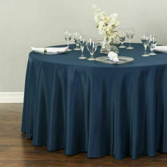 LinenTablecloth 120 in.Round Polyester Tablecloth Colors! Party Event