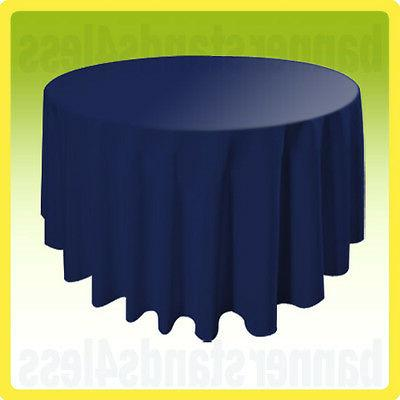 120 navy blue round table cover tablecloth