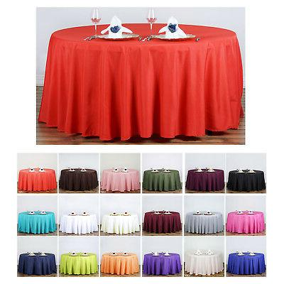 120 round polyester tablecloth