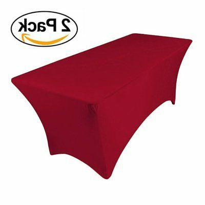 2 pieces stretch table covers 10ft 120