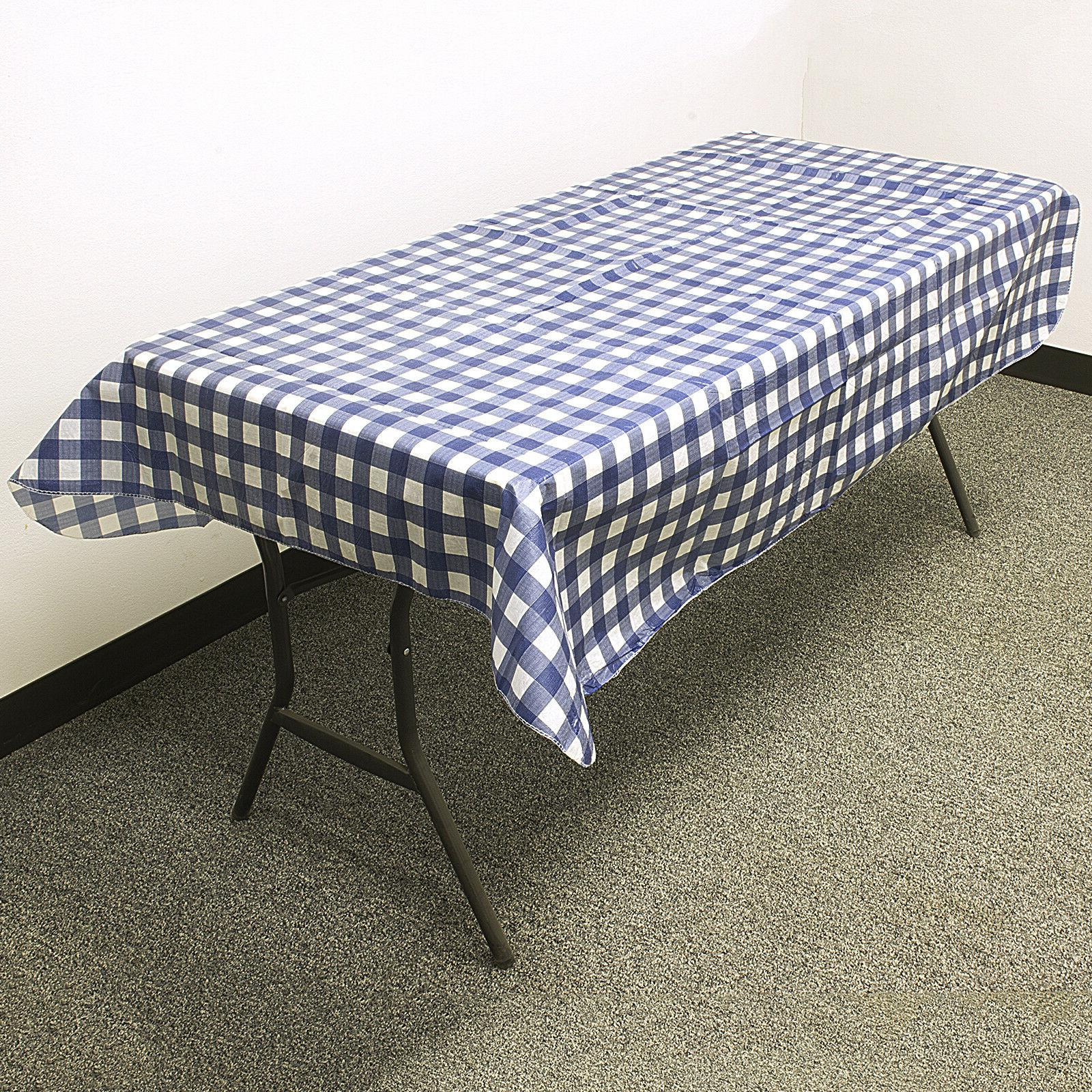 3 FLANNEL TABLECLOTH Reusable Picnic Party 52""