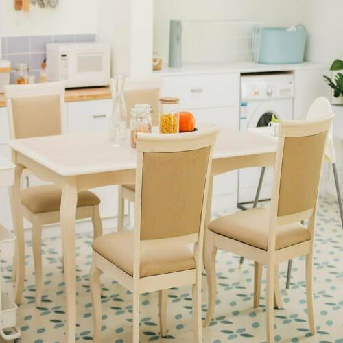 Luxury Modern Dining Table Set 2 Chairs