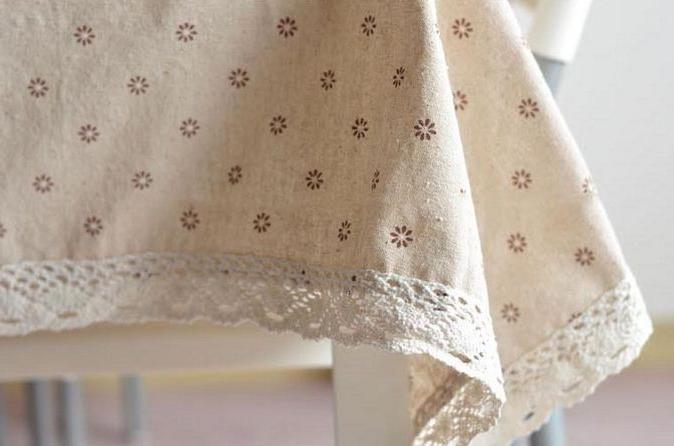 3 Lace <font><b>Table</b></font> Flower Cherry Country Style Tablecloths <font><b>Table</b></font> GQ16