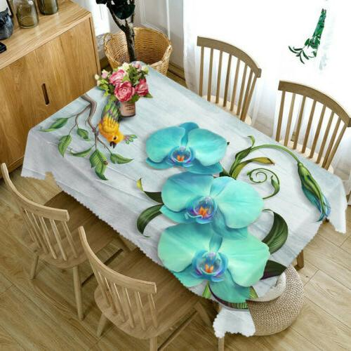 3D fabric Table Dust-proof Cloth Kitchen Tablecloth Decor