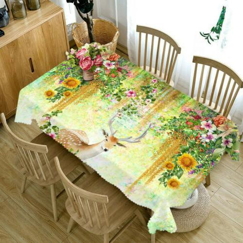 3D fabric Table Cloth Cover Home Kitchen