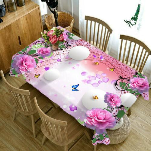 3D Dust-proof Cloth Cover Kitchen Tablecloth