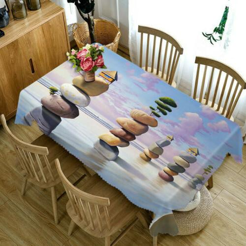 3D fabric Table Cloth Kitchen Tablecloth