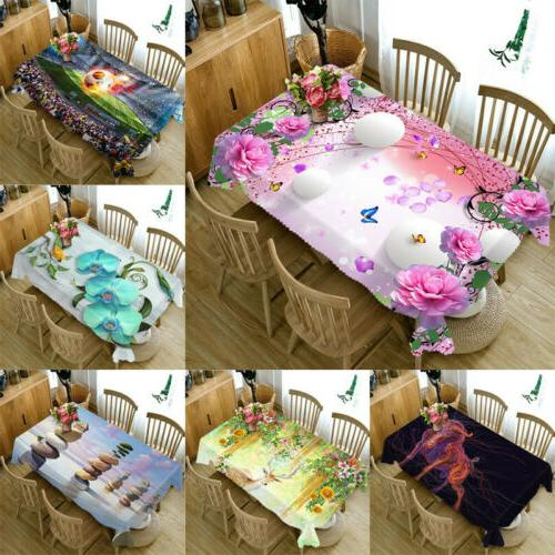 3d fabric table dust proof cloth cover