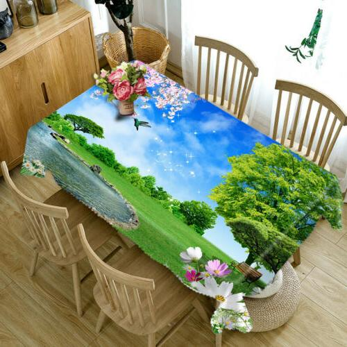 3D Nature Tablecloth New Dinner Decor cover