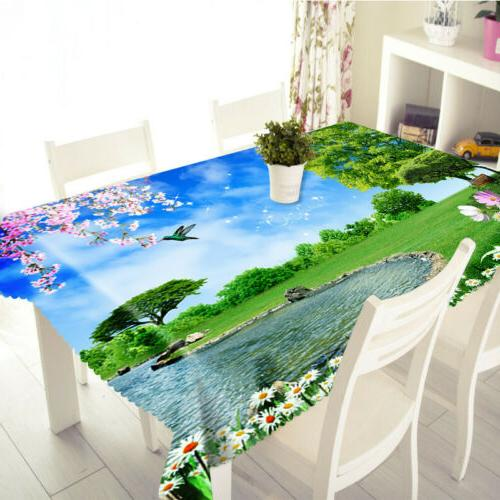 3D Nature Floral Tablecloth Home cover