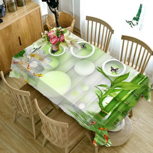 3D Nature Tablecloth New Dinner Top cover
