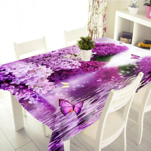 3D Nature Floral print Tablecloth New Dinner Table cover
