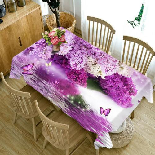 3D Nature Floral print Tablecloth Dinner cover