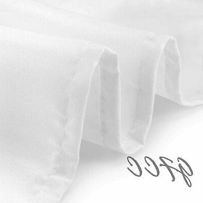 GFCC 54 x 54-Inch Seamless White Tablecloth Wedding