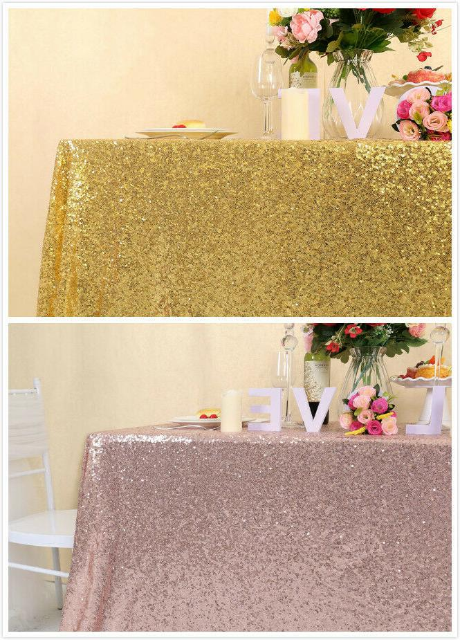 55x80inch sequin table cloth shiny tablecloth wedding