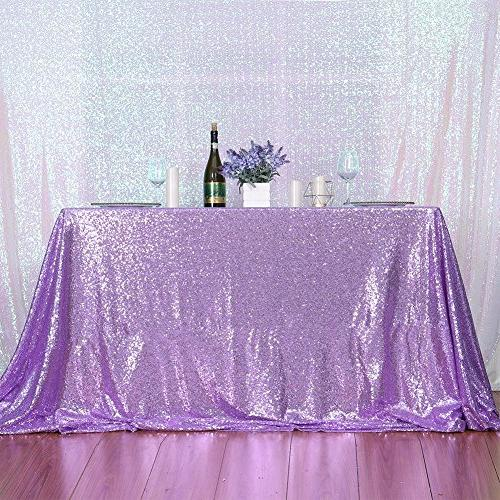 3e Home 60×102'' Rectangle Sequin TableCloth for Party