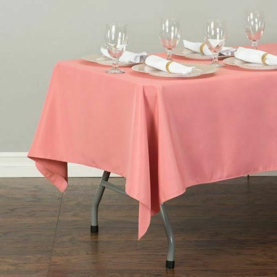 LinenTablecloth in.Poly Tablecloths, Colors! for Wedding Party
