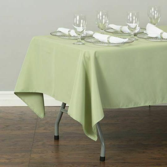 LinenTablecloth x 102 in.Poly Tablecloths, for