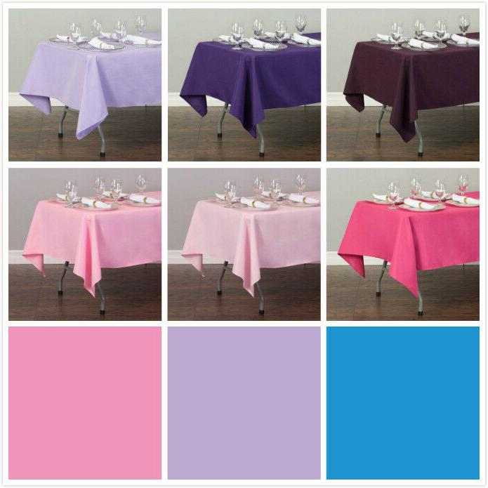 LinenTablecloth 60 x in.Poly Tablecloths, 33 Colors! for Wedding Party