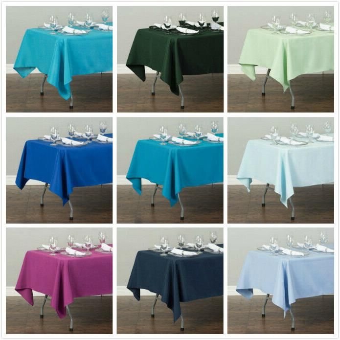 LinenTablecloth x 102 in.Rectangular Polyester Wedding Event Party