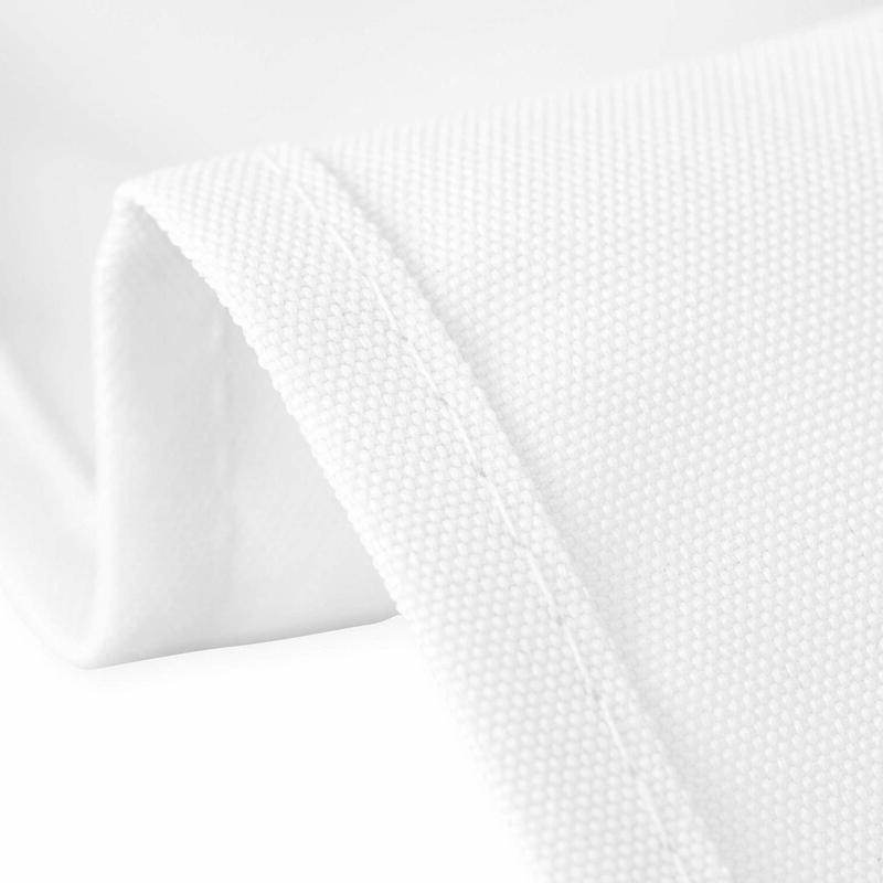 LinenTablecloth 60 102-Inch Rectangular Polyester White