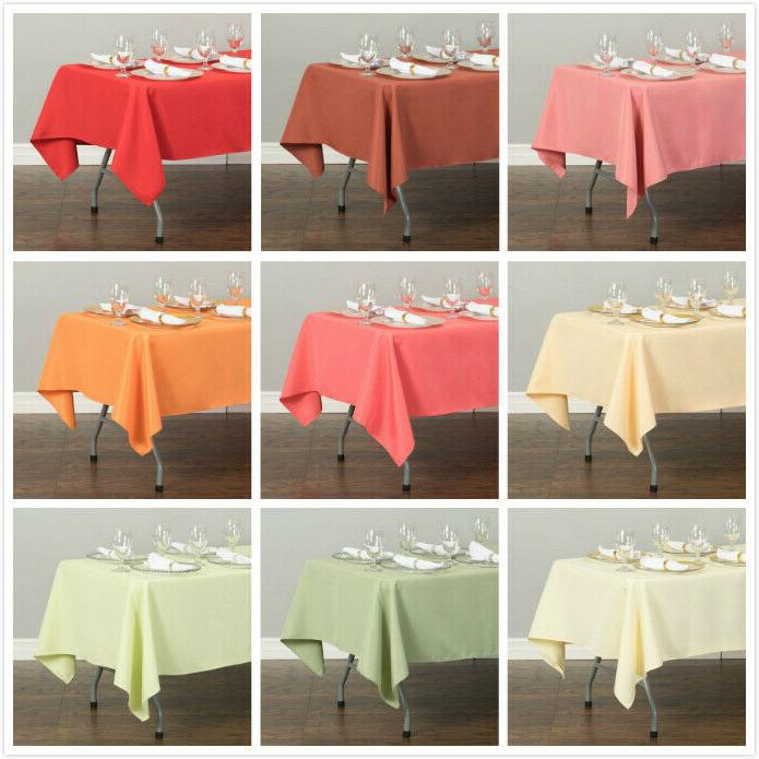60 x 126 in rectangular poly tablecloths
