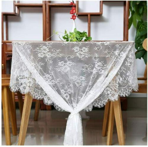 60 Tablecloth - Lace Embroidered