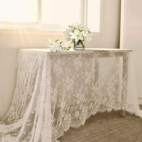 60 x120 inch lace tablecloth white wedding