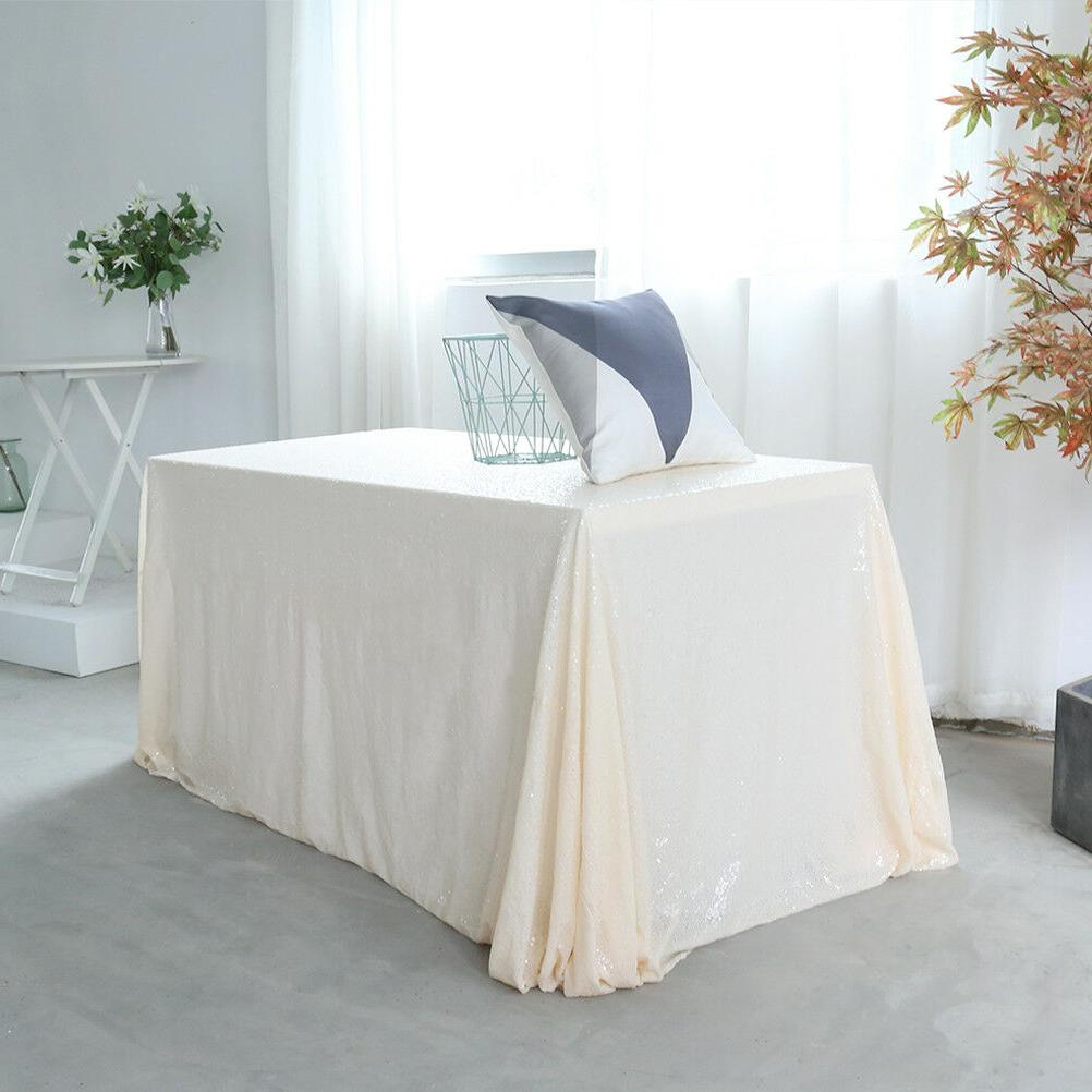 60''x120'' Tablecloth Shiny Party Cloth Cover