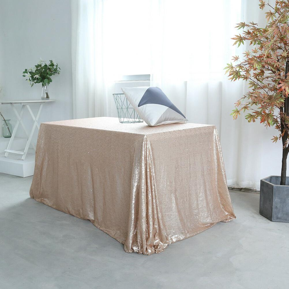 60''x120'' Sequin Shiny Wedding Cloth Cover