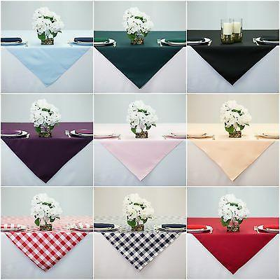 60x60 inch square overlay tablecloth 100 percent
