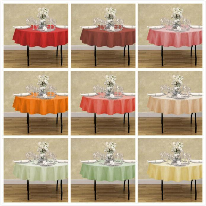 70 in. Round Polyester Tablecloth 33 Colors! for Wedding Eve